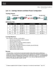 Lab 1-1 Cabling a Network and Basic Router Configuration (1.5.1)