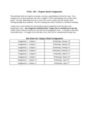 Chapter Based Assignments Spring 2013