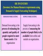 HR demand and supply ppt - HR PLANNING WITH DEMAND AND