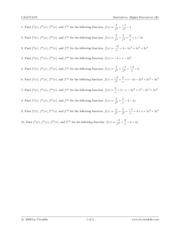 Derivatives. Higher Derivatives (II)