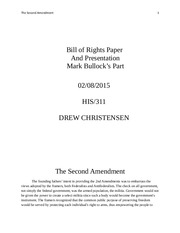 Bill of Rights Paper