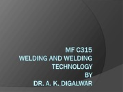 7. Lecture on Gas Welding