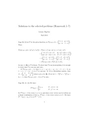 Solutions to the selected problems (Homework 5–7)