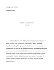 essay on adidas company hall gan jonathan halligan professor 10 pages adidas case the best or just one of many essay