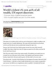 World's richest 1% own 40% of all wealth, UN report discovers | Money | The Guardian.pdf