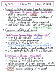 Demaine theorem review