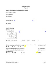 Practice Quiz 3 Solution on Statistics Spring 2015