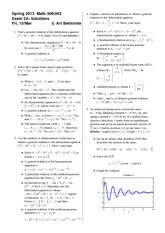 Exam 2 Version A Spring 2013 on Differential Equations