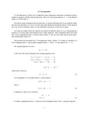 MATH 112 LU Decomposition Notes