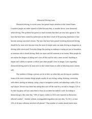 Distracted Driving Laws Research Paper