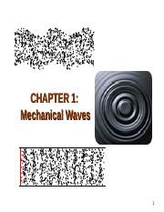 Chapter1-mechanical waves