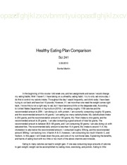 Sci241_ Healthy Eating Plan Comparison