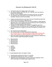 Answers to Homework Set Number 1