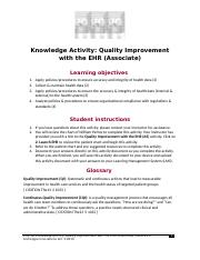 Quality Improvement with the EHR (Associate) HAK1021.2.docx
