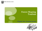 Chapter 10_Forces shaping tourism