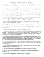 WORKSHEET - Hypothesis Tests for One Mean.pdf