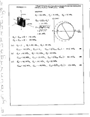 824_Mechanics Homework Mechanics of Materials Solution
