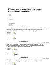 S06 Exam - Brookshear Chapters 0-2