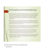 Practice questions on environmental epidemiology.docx