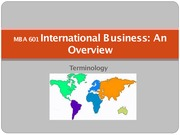 Chapter 1 - International Business Overview - Lecture Material