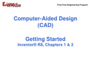 09-23 Lecture 2 - Inventor Getting Started