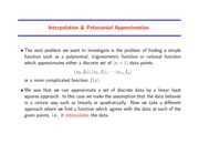 Study Guide on Polynomial Interpolation