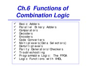 ch6_Functions of Combinational Logic