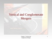 vertical and coglomerate mergers