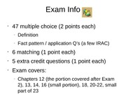 Day 27 Exam 3 Review - Fall 11 (for students)