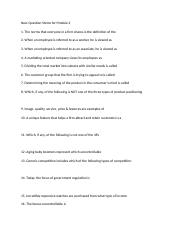 Question Stems for Module 2-5