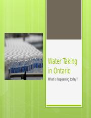Water Taking in Ontario.pptx