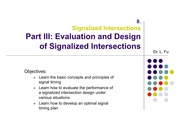 Signalized Intersection - Part III Signal Timing - CCG