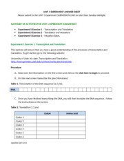Week 5 Experiment Answer Sheet (30) - BI101