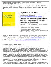Implications for the function of dreaming.pdf