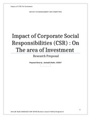 The Impact of Corporate Social Responsibilities