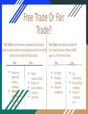 Layla Murray- Free Trade Or Fair Trade?