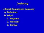 Jealousy (Revised Spring 06)