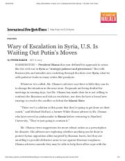 Wary of Escalation in Syria, U.S.pdf