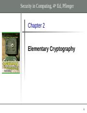 Chapter 2 - Elementary Cryptography