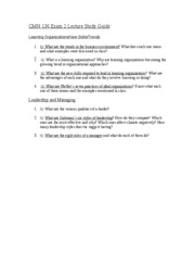 Q-CMN 136 Exam 2 Lecture Study Guide