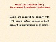 KYC Norms & AML guidelines