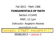 Lecture 5 - Math 1300 - 090613 - FILLED