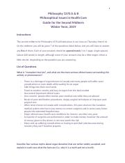 Philisophical Issues 1370 Midterm 2 Practice Answers.docx
