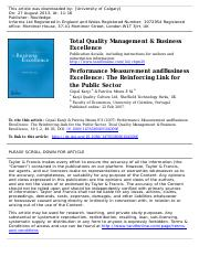 15 - Performance Measurement and Business Excellence The Reinforcing Link for The public sector.pdf