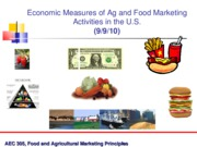 Sept 9 Economic Measures of the Food and Farm Marketing System