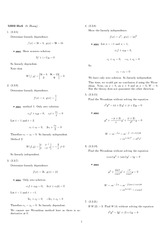 Homework 6 Solution Winter 2008 on Ordinary Differential Equations