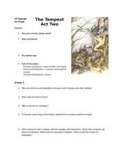 The Tempest Act Two Reading Guide (1)