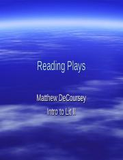 Reading Plays.ppt