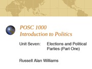POSC 1000 Elections and Parties (Part 1)