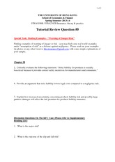 Tutorial 9 Review Questions
